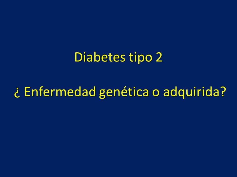 Diabetes tipo 2 ¿ Enfermedad genética o adquirida