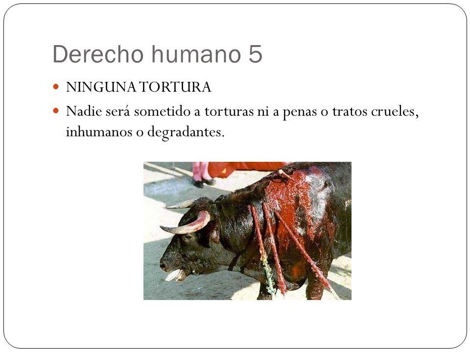 Derecho humano 5 NINGUNA TORTURA