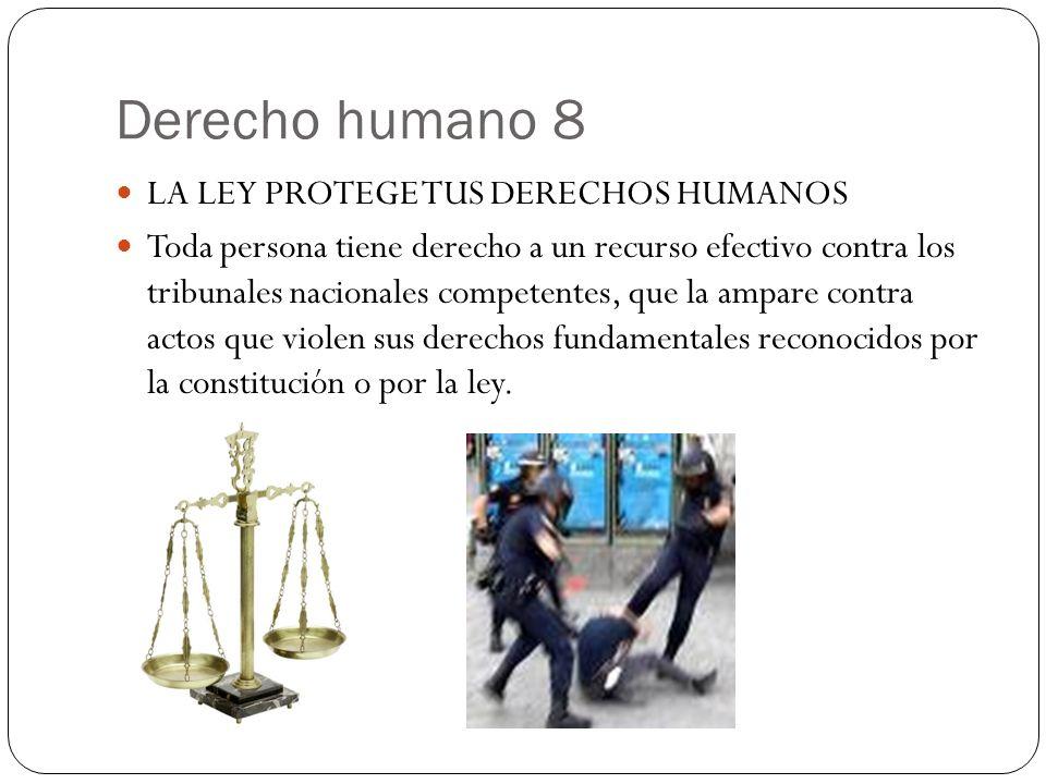 Derecho humano 8 LA LEY PROTEGE TUS DERECHOS HUMANOS