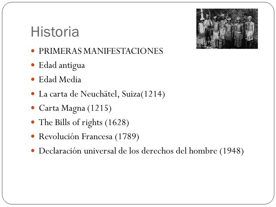 Historia PRIMERAS MANIFESTACIONES Edad antigua Edad Media
