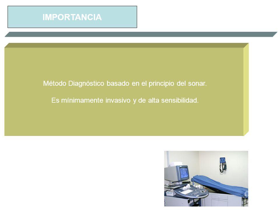 IMPORTANCIA Método Diagnóstico basado en el principio del sonar.