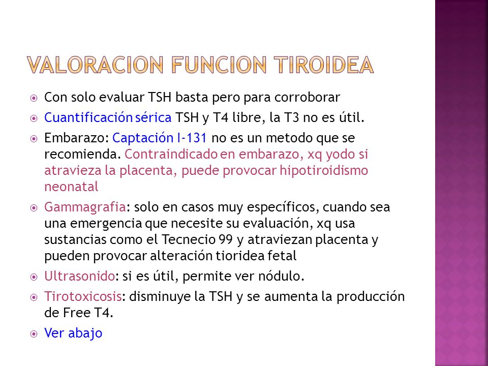 Valoracion funcion tiroidea