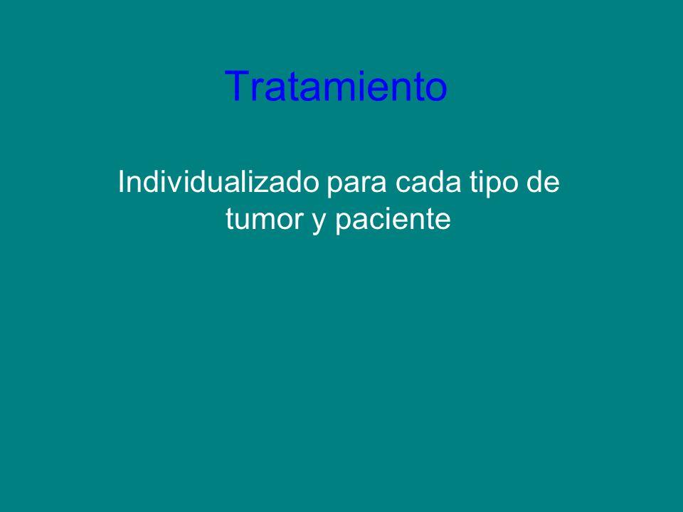 Individualizado para cada tipo de tumor y paciente