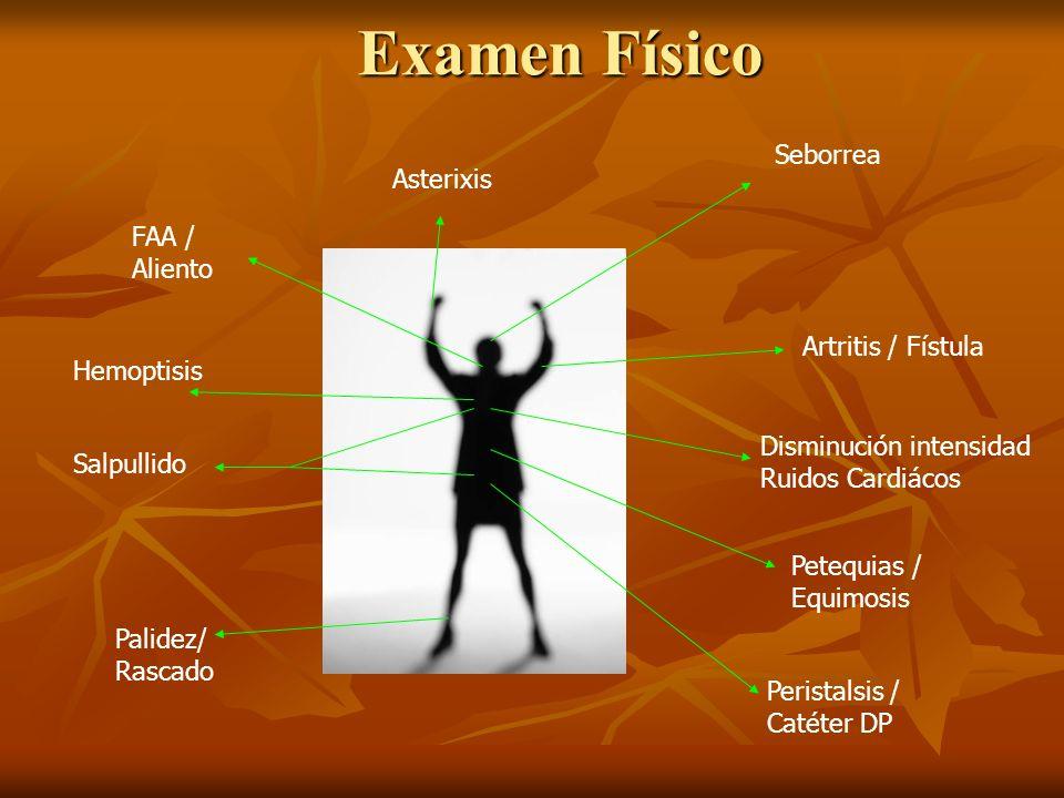 Examen Físico Seborrea Asterixis FAA / Aliento Artritis / Fístula