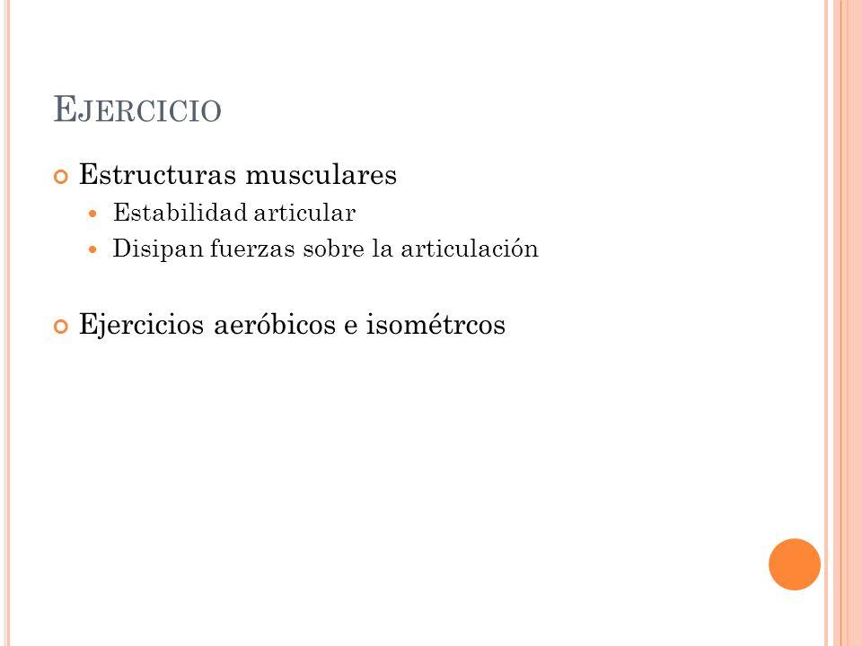 Ejercicio Estructuras musculares Ejercicios aeróbicos e isométrcos