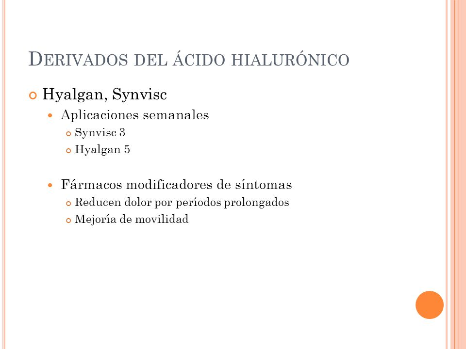 Derivados del ácido hialurónico