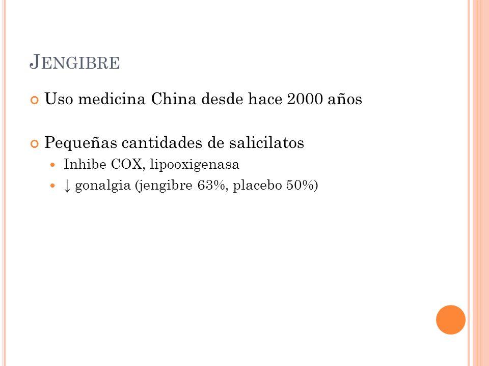 Jengibre Uso medicina China desde hace 2000 años