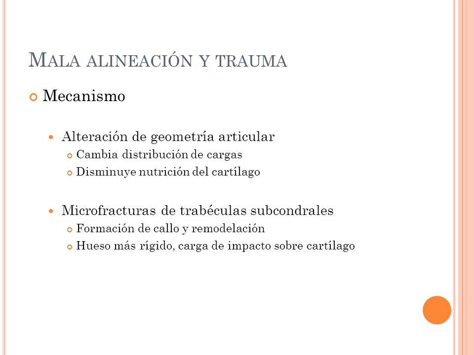 Mala alineación y trauma