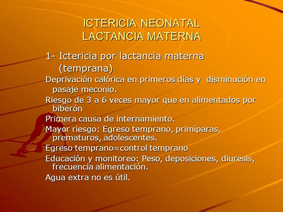 ICTERICIA NEONATAL LACTANCIA MATERNA
