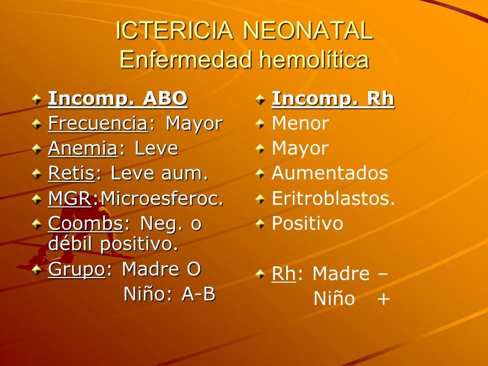 ICTERICIA NEONATAL Enfermedad hemolítica