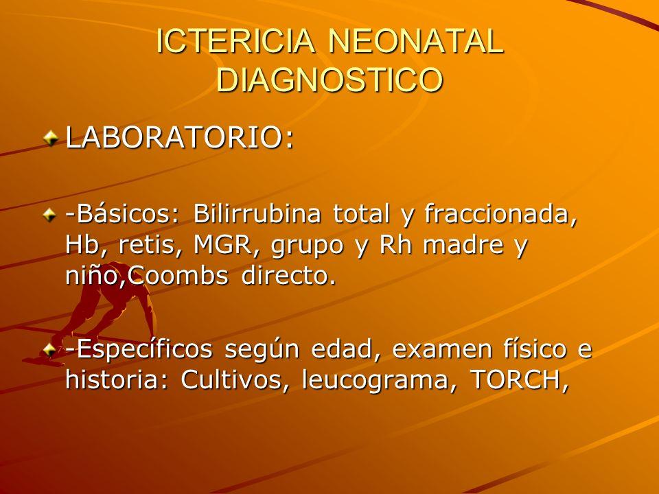 ICTERICIA NEONATAL DIAGNOSTICO