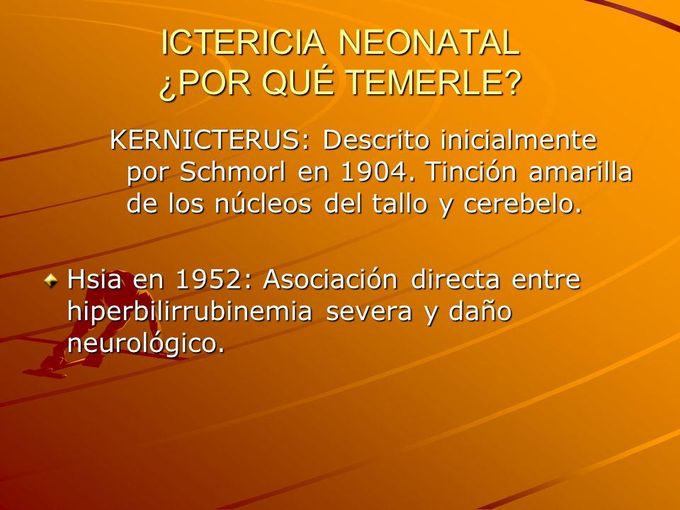 ICTERICIA NEONATAL ¿POR QUÉ TEMERLE