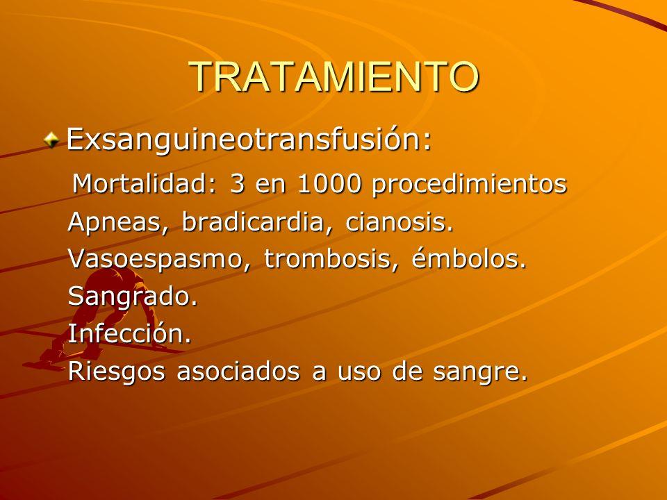 TRATAMIENTO Exsanguineotransfusión: