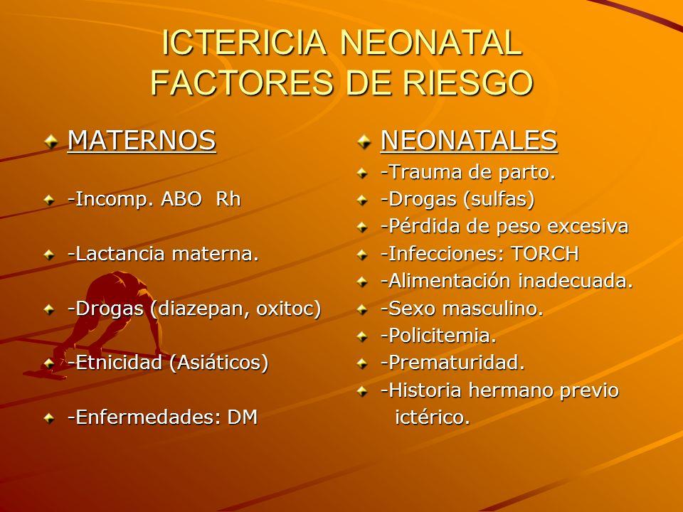 ICTERICIA NEONATAL FACTORES DE RIESGO