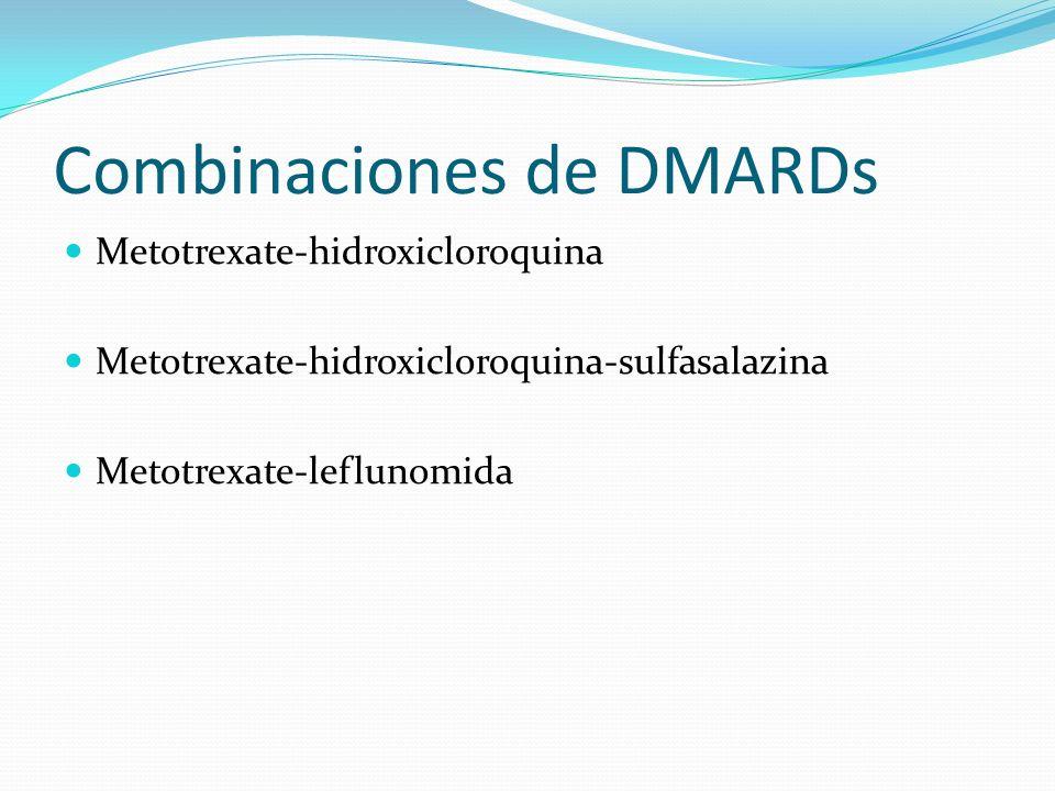 Combinaciones de DMARDs