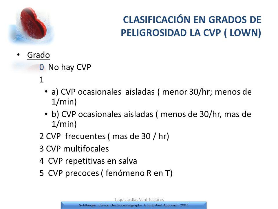 CLASIFICACIÓN EN GRADOS DE PELIGROSIDAD LA CVP ( LOWN)