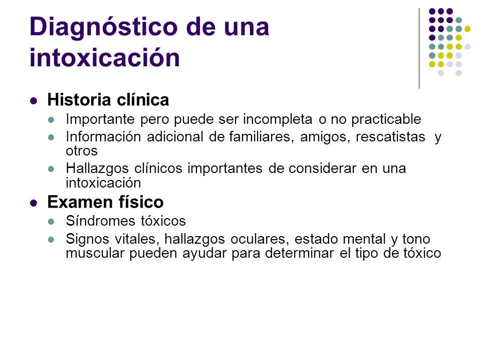 Diagnóstico de una intoxicación