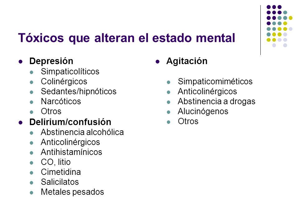 Tóxicos que alteran el estado mental