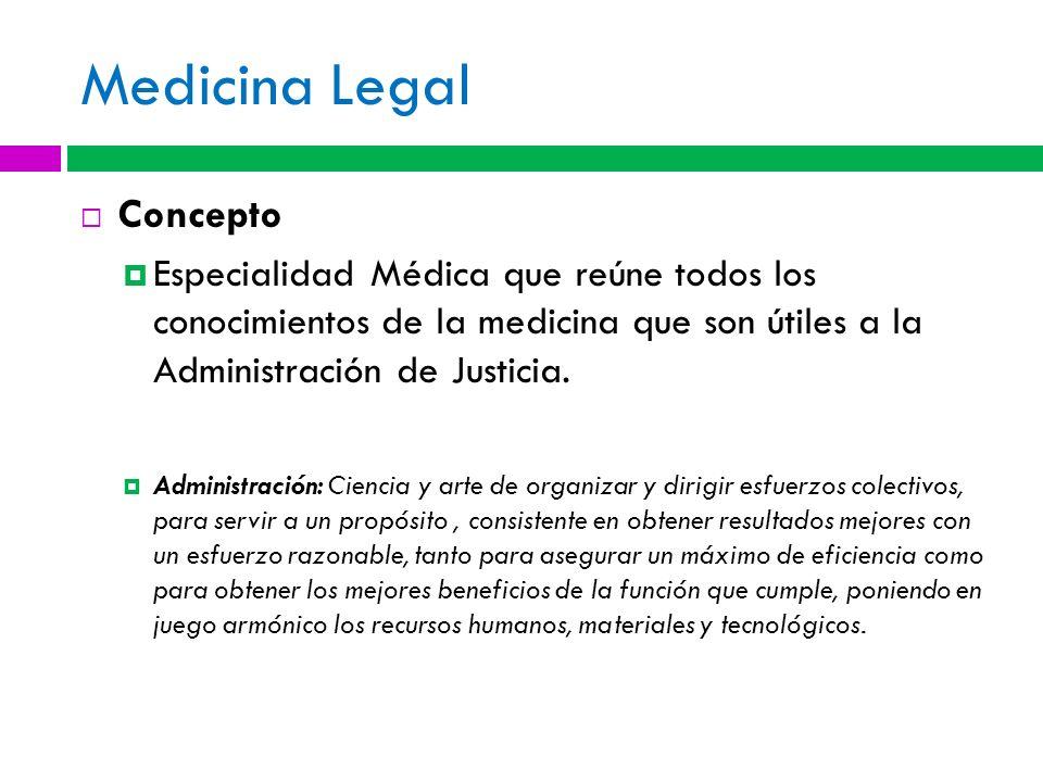 Medicina Legal Concepto