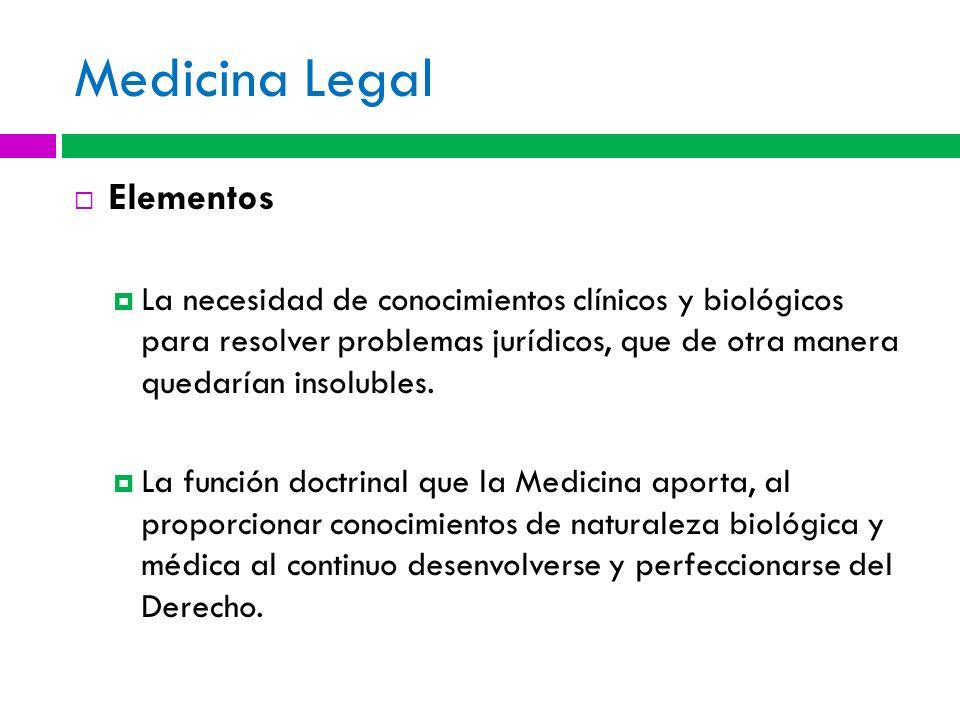 Medicina Legal Elementos