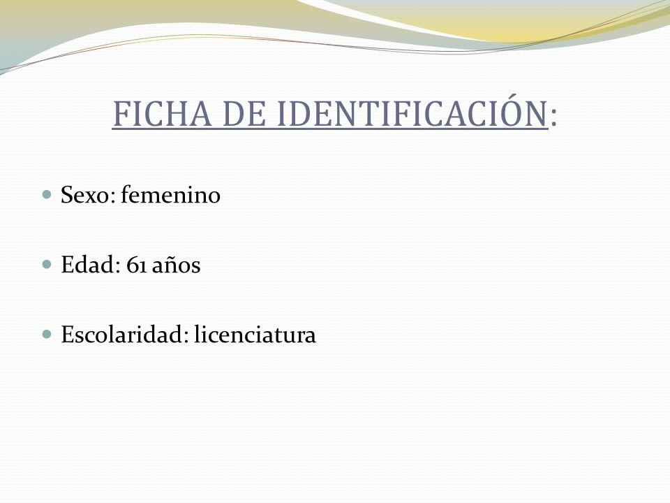 FICHA DE IDENTIFICACIÓN: