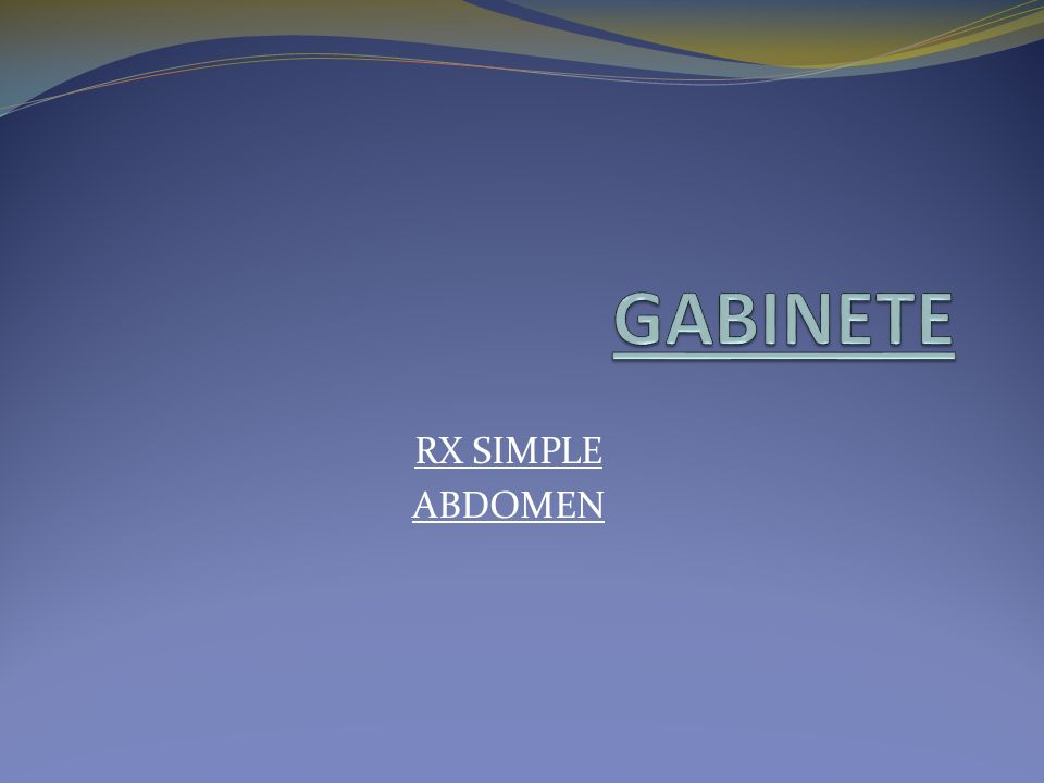 GABINETE RX SIMPLE ABDOMEN