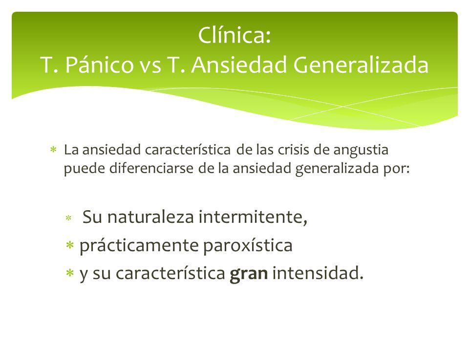 Clínica: T. Pánico vs T. Ansiedad Generalizada