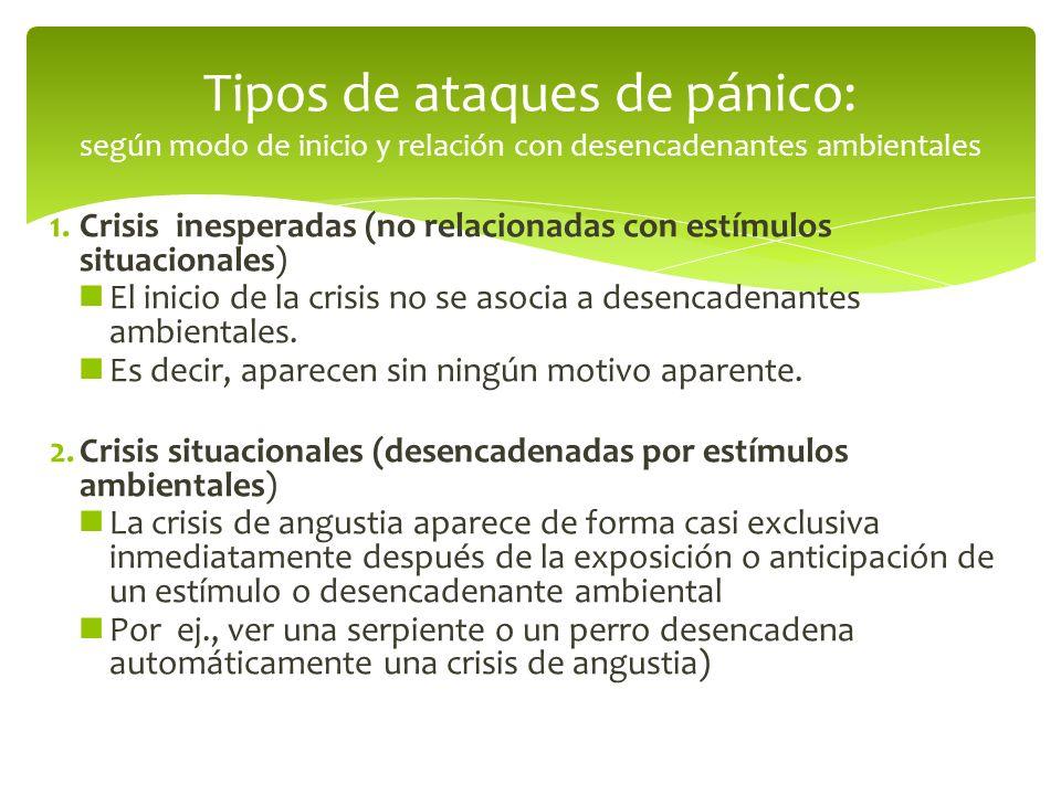 Tipos de ataques de pánico: según modo de inicio y relación con desencadenantes ambientales