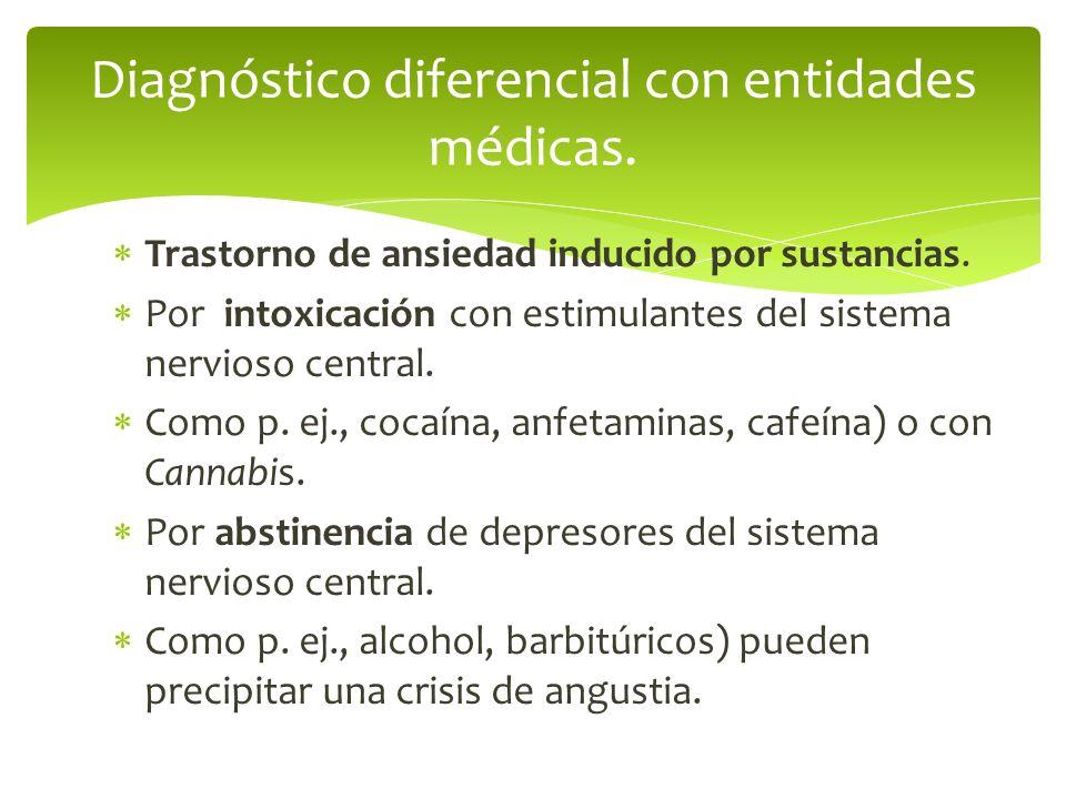 Diagnóstico diferencial con entidades médicas.
