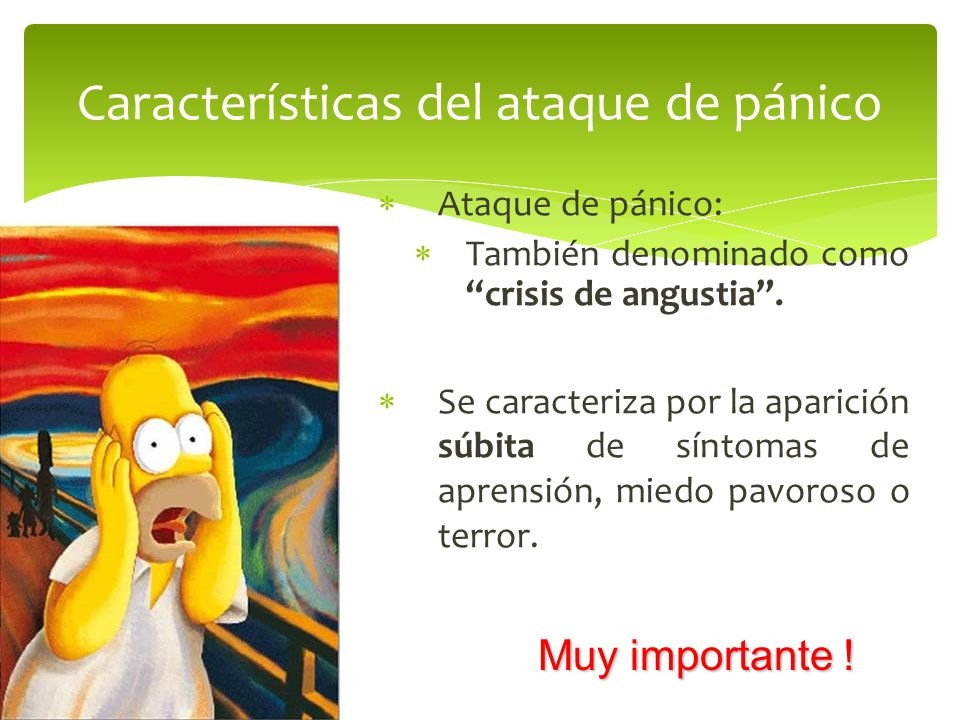 Características del ataque de pánico