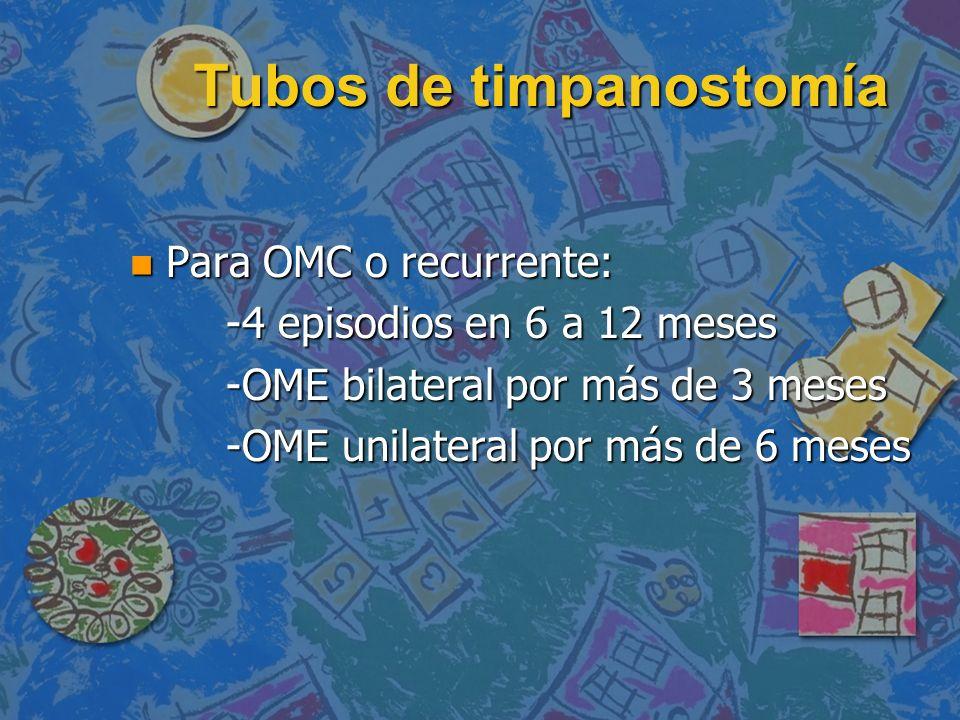 Tubos de timpanostomía