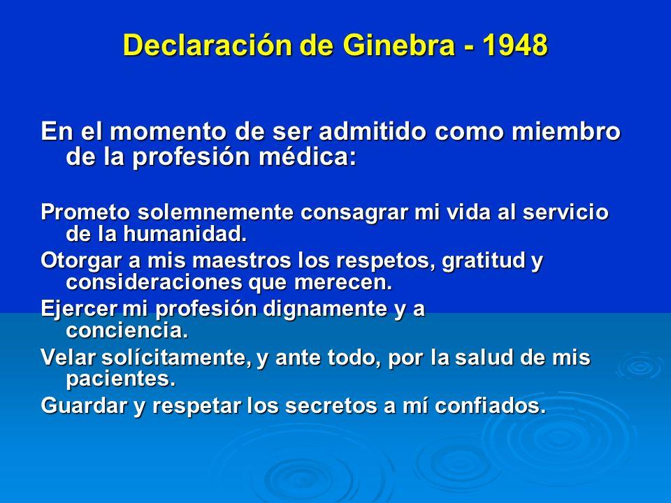Declaración de Ginebra - 1948