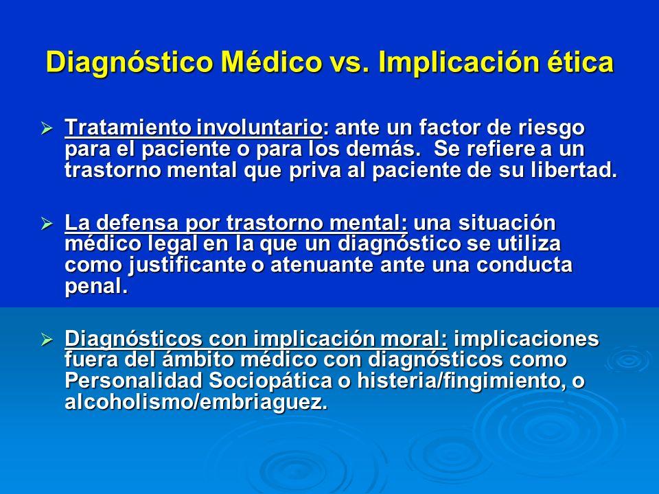 Diagnóstico Médico vs. Implicación ética