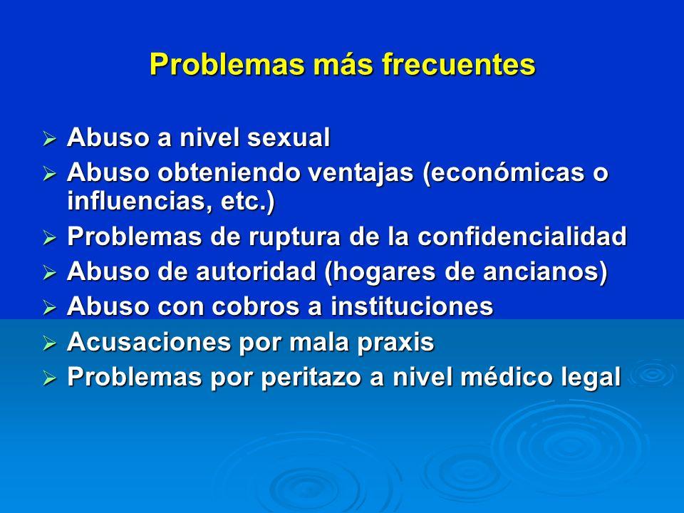 Problemas más frecuentes