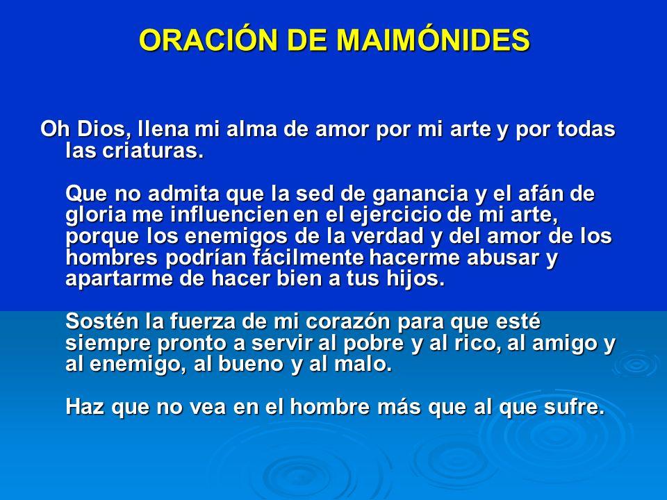 ORACIÓN DE MAIMÓNIDES