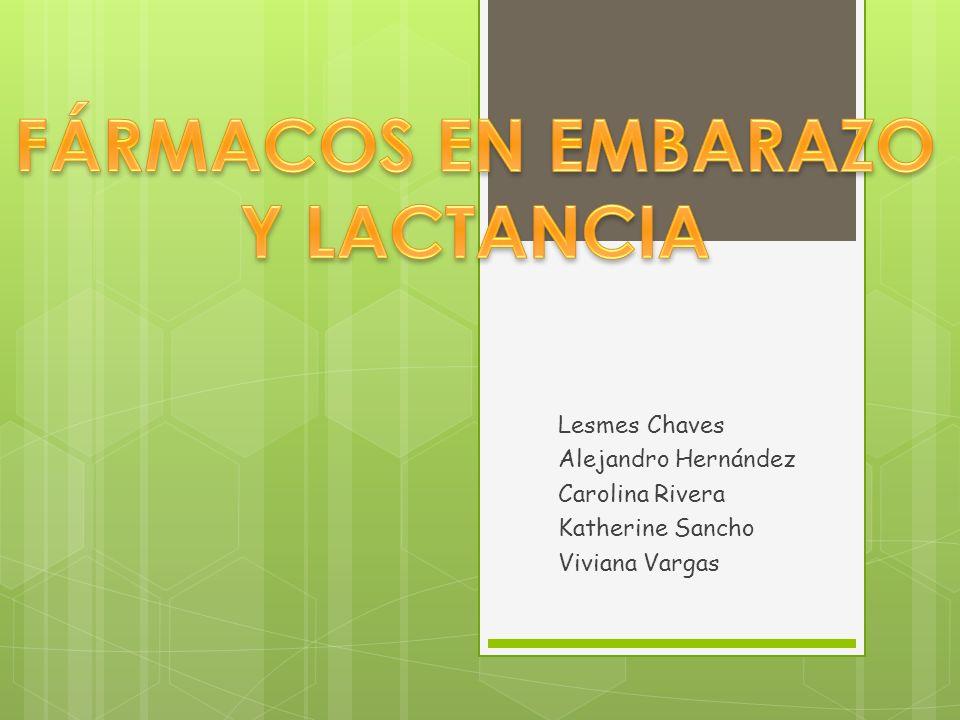 FÁRMACOS EN EMBARAZO Y LACTANCIA