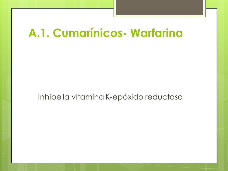 A.1. Cumarínicos- Warfarina