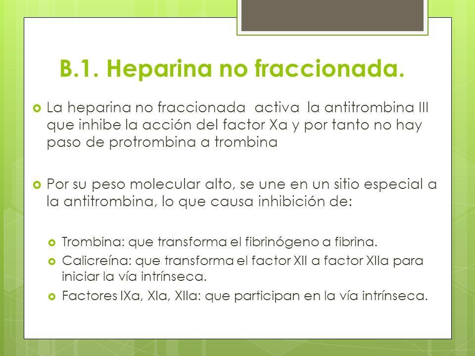 B.1. Heparina no fraccionada.