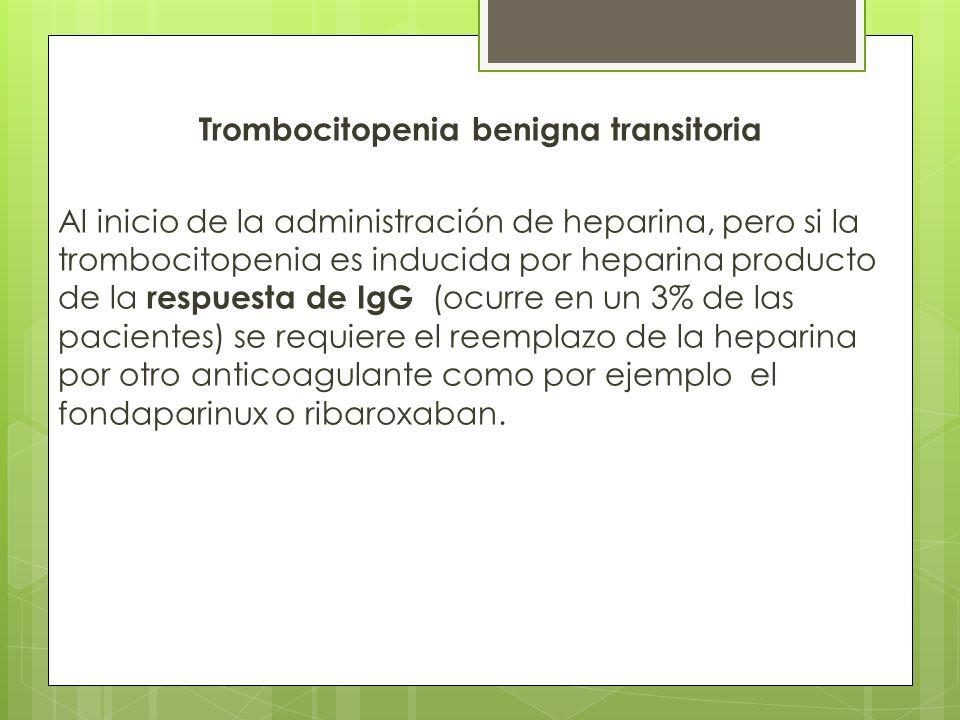 Trombocitopenia benigna transitoria
