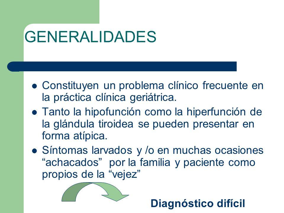 GENERALIDADES Constituyen un problema clínico frecuente en la práctica clínica geriátrica.