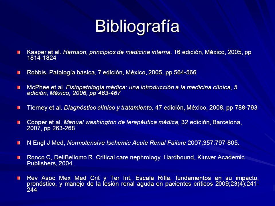 BibliografíaKasper et al. Harrison, principios de medicina interna, 16 edición, México, 2005, pp 1814-1824.