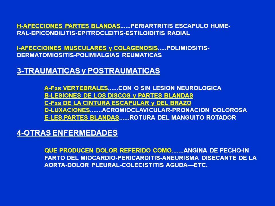 3-TRAUMATICAS y POSTRAUMATICAS
