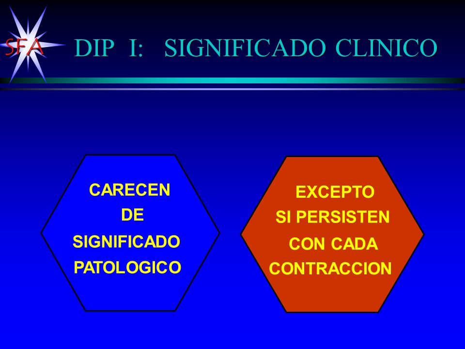 DIP I: SIGNIFICADO CLINICO