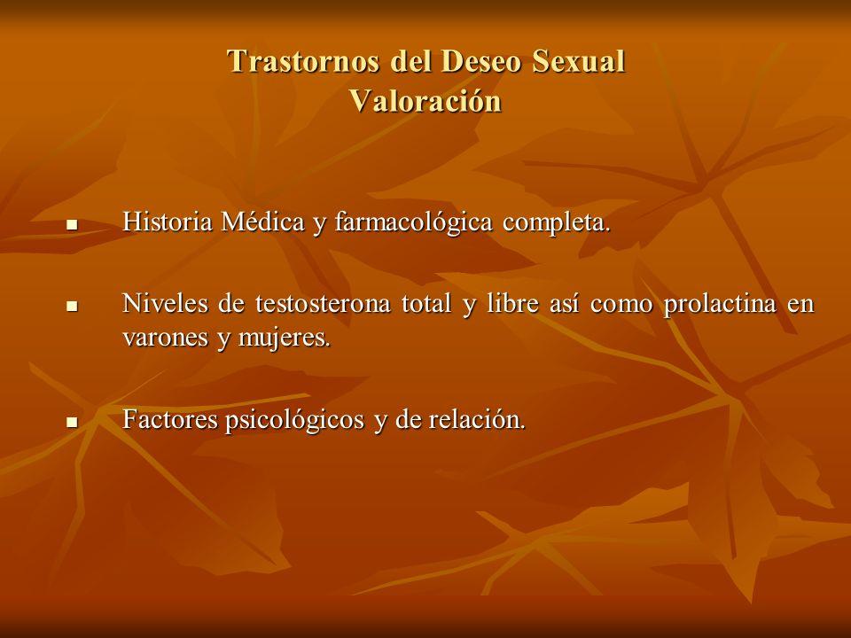 Trastornos del Deseo Sexual Valoración