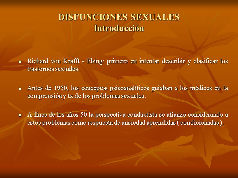 DISFUNCIONES SEXUALES Introducción