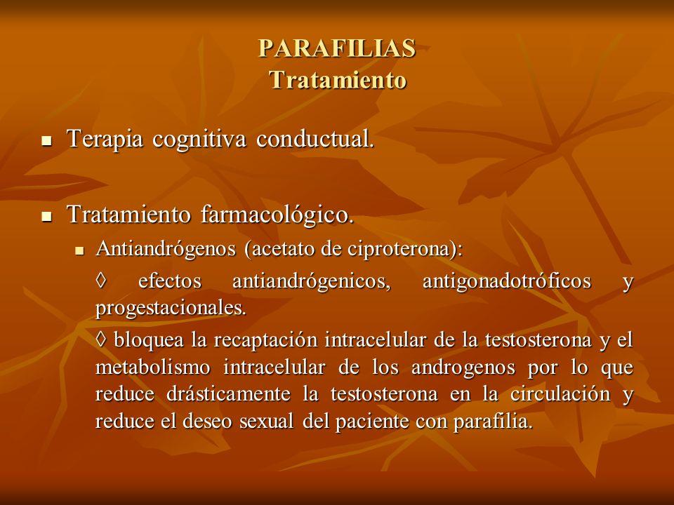 PARAFILIAS Tratamiento