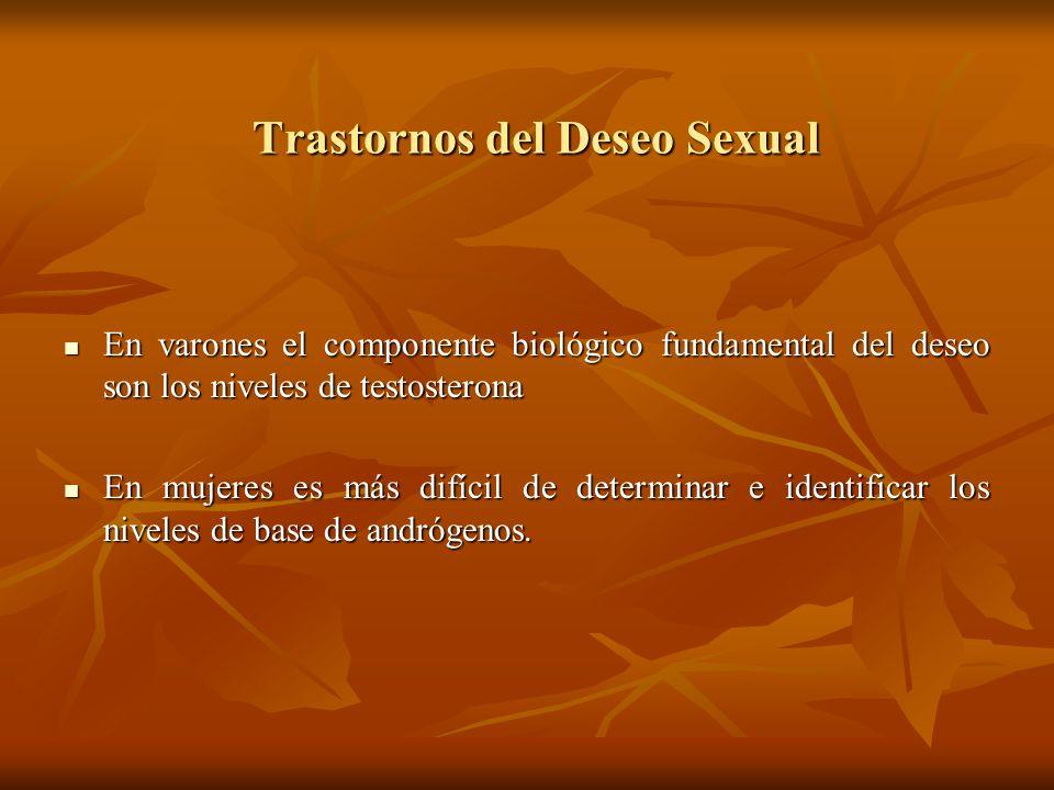 Trastornos del Deseo Sexual