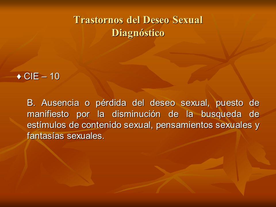Trastornos del Deseo Sexual Diagnóstico