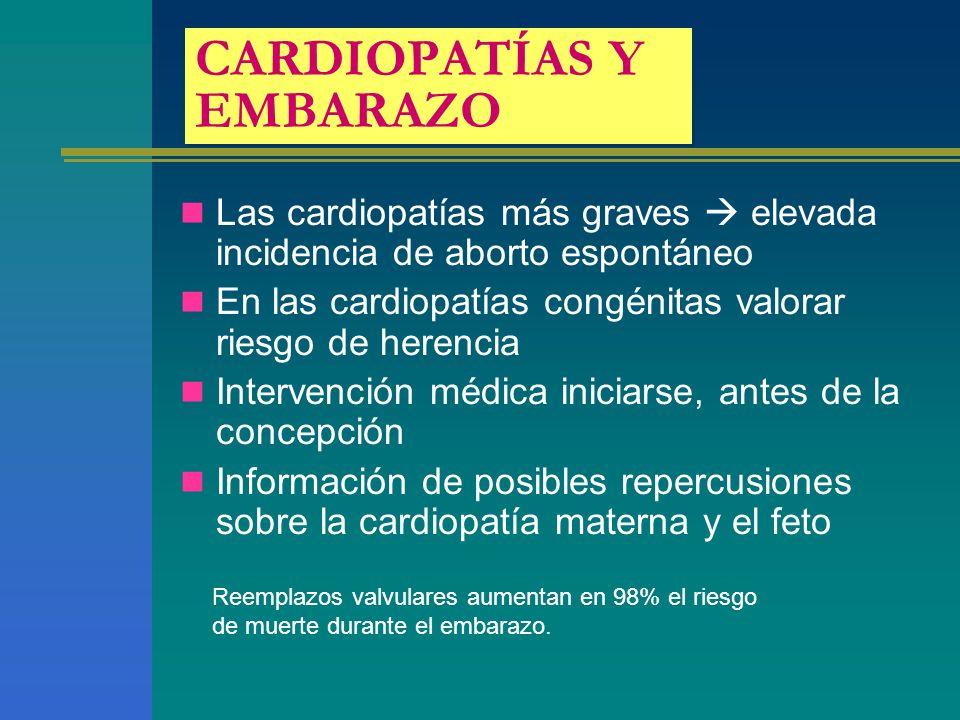 CARDIOPATÍAS Y EMBARAZO