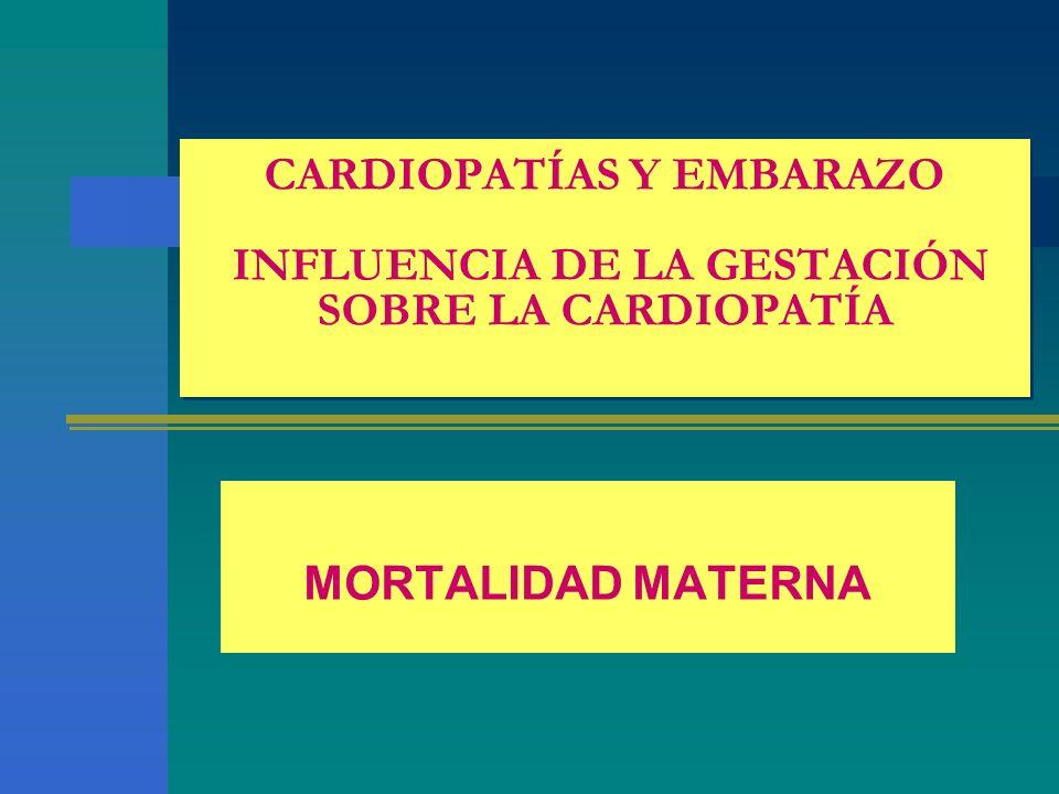CARDIOPATÍAS Y EMBARAZO INFLUENCIA DE LA GESTACIÓN SOBRE LA CARDIOPATÍA